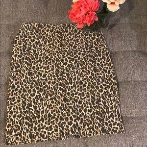 J. Crew leopard skirt